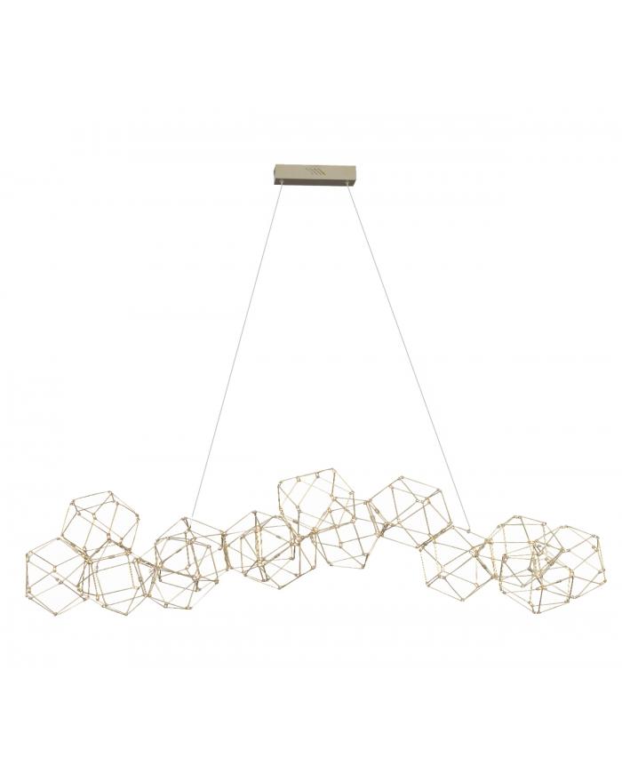 מוזה 14 תליה LED  זהב